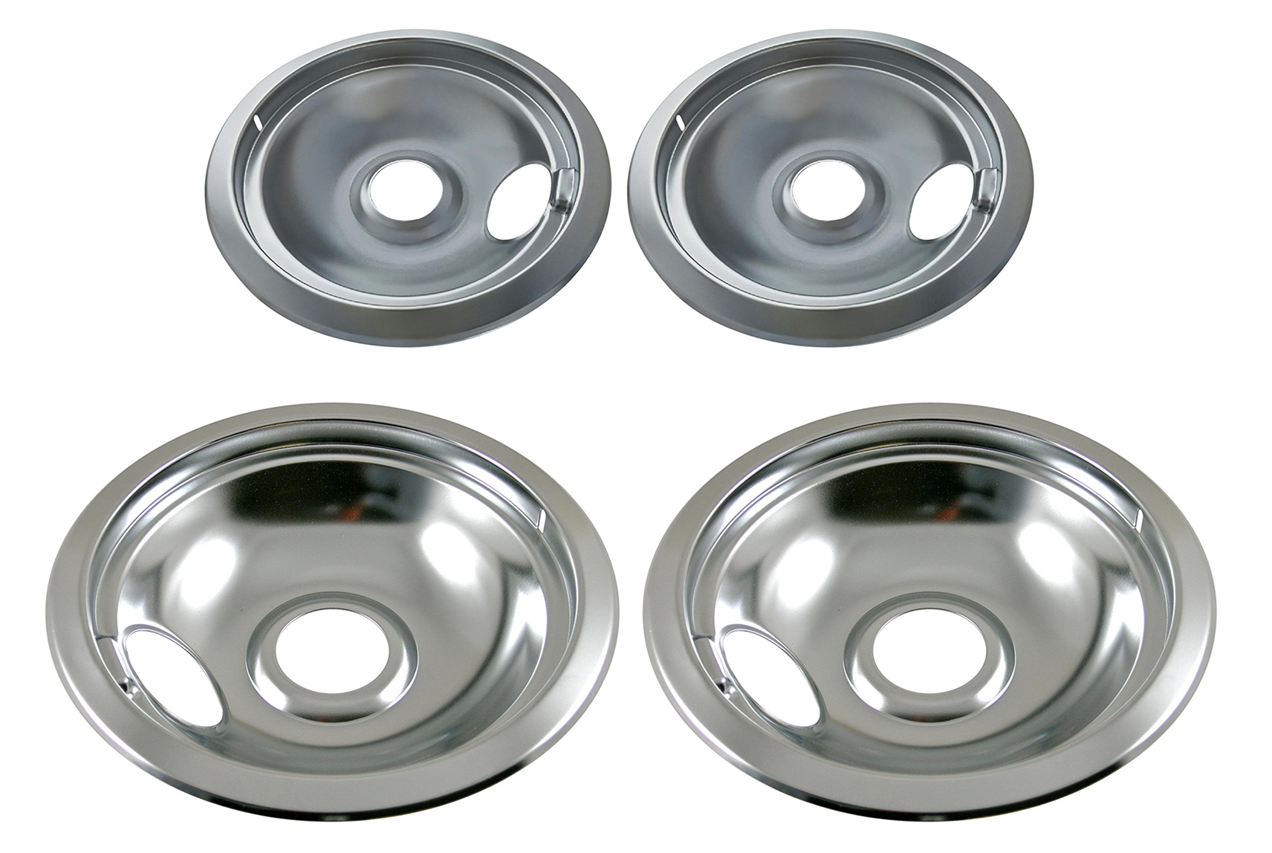Electric Stove Drip Replacement Set Chrome Pans Burner