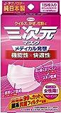 三次元マスク すこし小さめサイズ 女性用 ベビーピンク 15枚入