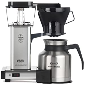 Technivorm Moccamaster 79212 KBTS Coffee Brewer, 32 oz, Polished Silver