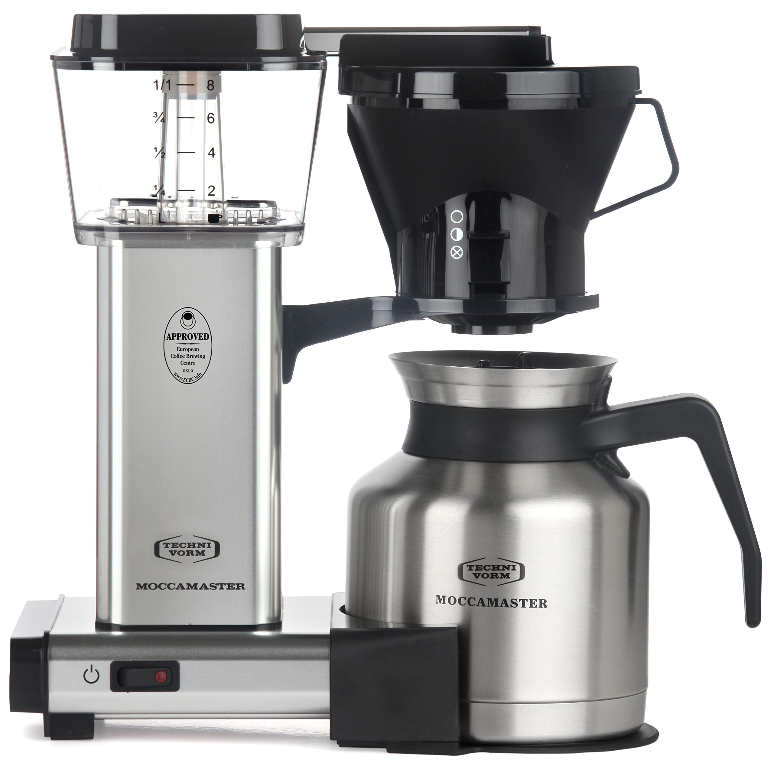 Moccamaster 79212 KBTS 8-Cup Coffee Brewer with Thermal Carafe, Polished Silver