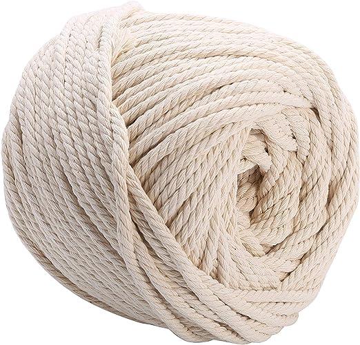 CozofLuv - Hilo de algodón para macramé, hilo de algodón para ...