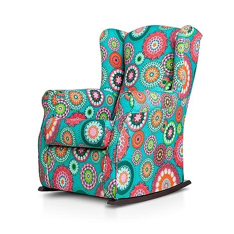 SUENOSZZZ- Sillón Butaca orejero (Sillon Lactancia) Sillon tapizado Mandalas. Sillones de hogar tapizado. Sillon balancin Mecedora