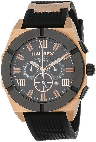 a49a3523cca2 Haurex Italy 3r305unh para hombre Challenger Black Dial Reloj  Amazon.es   Relojes