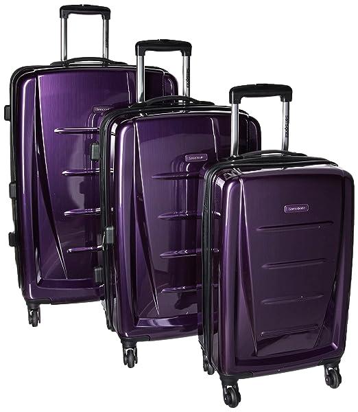 1fc507e9ff0e Samsonite Winfield 2 Fashion Hardside 3 Piece Spinner Set, Purple ...