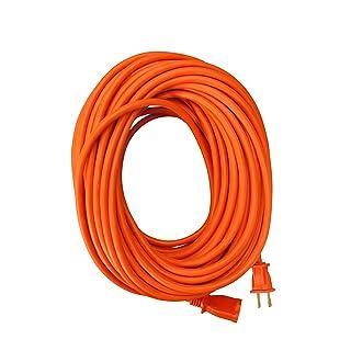 Coleman Cable 22098803 16/2 Vinyl Outdoor Extension Cord, 100-Feet, 100 ft, Orange