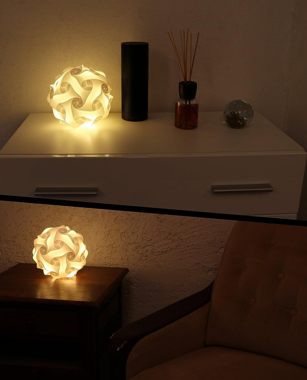 Puzzle DIY lámpara de pie bola Noche Lámpara de mesa Deco ...
