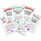 SYGA 6 Pcs Personalised Card Gift Certificates for Family Member