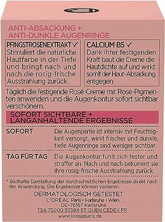 L'Oréal Paris Perfect Golden Age Rosé - Cuidado ocular con calcio B5 y extracto de peonía, contra ojeras oscuras, 15 ml
