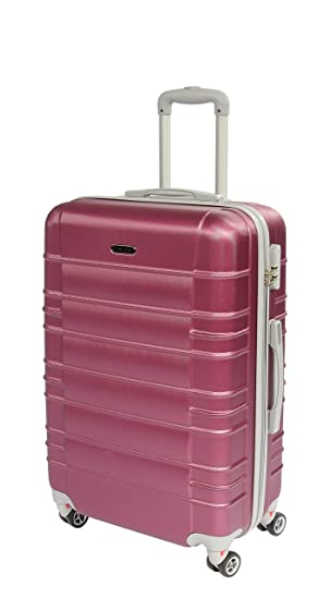Hardshell ABS 4 Wheel Spinner Suitcase Travel Trolley Luggage ...