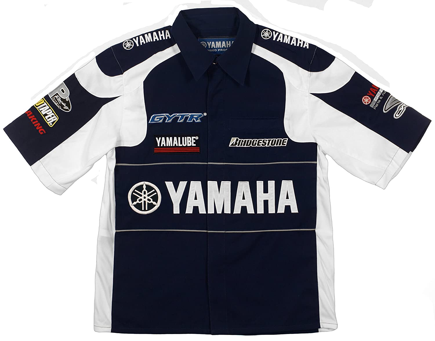 19a45ae5 Amazon.com: Yamaha Racing Team Embroidered Pit Shirts 3 Great Styles in  Mens and Womens (X-Small, Navy Blue): Clothing