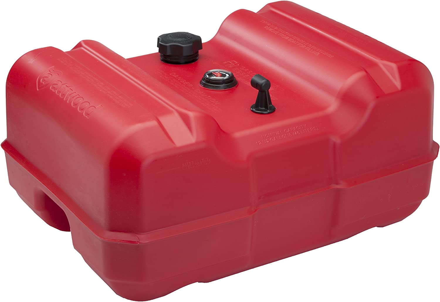 Attwood 8812LLPG2 EPA Certified 12 Gallon Low-Profile Portable Fuel Tank with Gauge