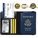 Passport Holder Cover RFID Blocking Leather Card Case Travel Wallet