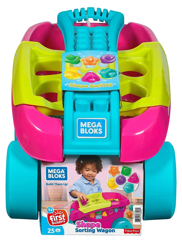 Mega Bloks Shape Sorting Wagon Building Set Fisher Price / Mattel Canada FVJ48