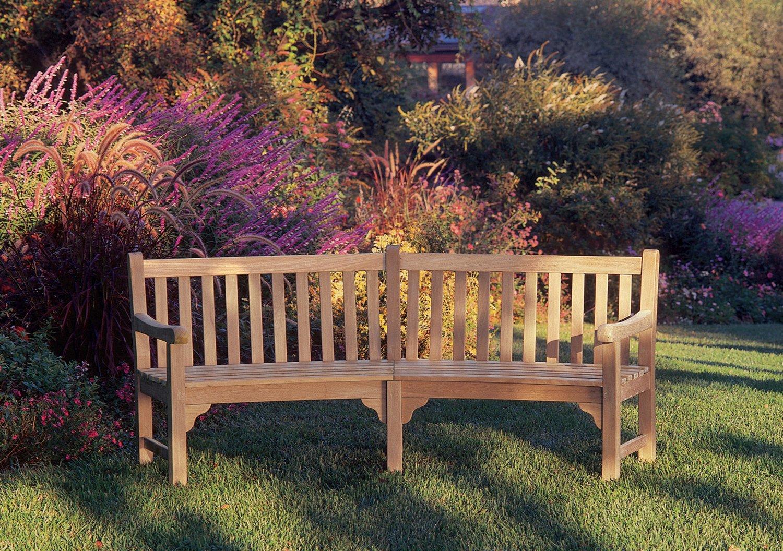 Exceptionnel Amazon.com : Oxford Garden Essex 83 Inch Curved Shorea Bench : Outdoor  Benches : Garden U0026 Outdoor