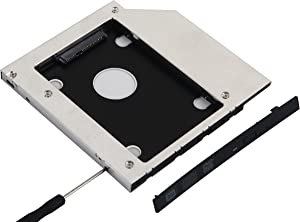 NIGUDEYANG 2nd SSD HDD Hard Drive Caddy for Dell Inspiron 15 3521 3537 3541 3542 3543 3552 3567 15 5558 5559