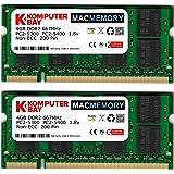 Komputerbay MACMEMORY Apple 8GB (2x 4GB) PC2-5300 667MHz DDR2 SODIMM iMac と Macbook メモリ