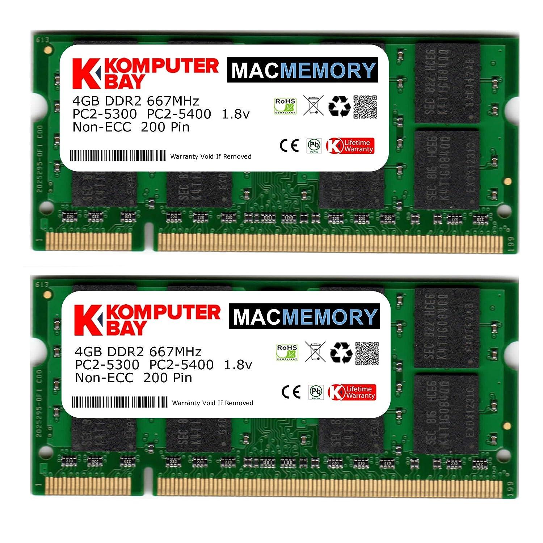 200 PIN di memoria SODIMM Laptop Komputerbay 4GB DDR2 667MHz PC2-5300 PC2-5400 DDR2 667