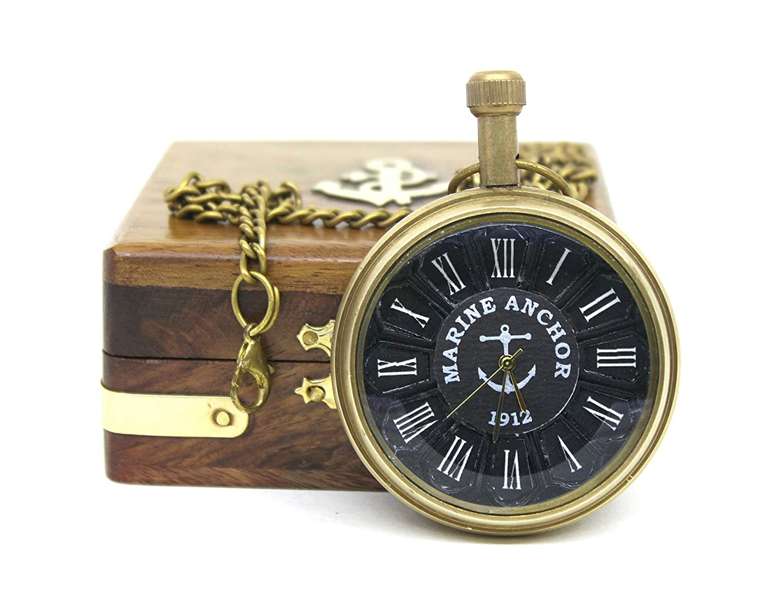 f0030c00f VA Antiques Type Chained Pocket Watch in Wooden Box with Special Black Dial  Size 4.5 cm (Diameter): Amazon.in: Watches