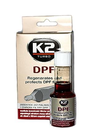 Aditivo limpiador K2 Turbo concentrado de combustible para regenerar y proteger el filtro de partículas diesel (DPF): Amazon.es: Coche y moto