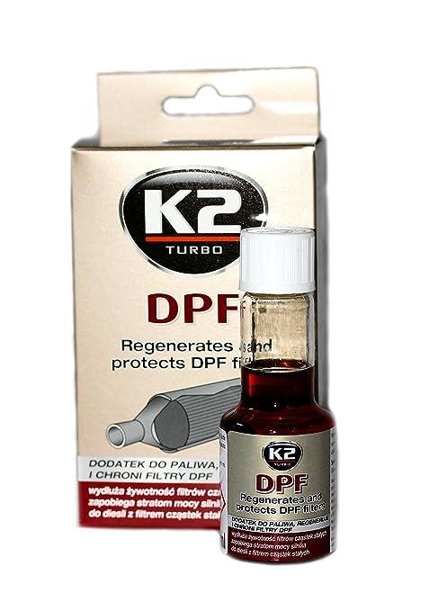 Aditivo limpiador K2 Turbo concentrado de combustible para regenerar y proteger el filtro de partículas diesel