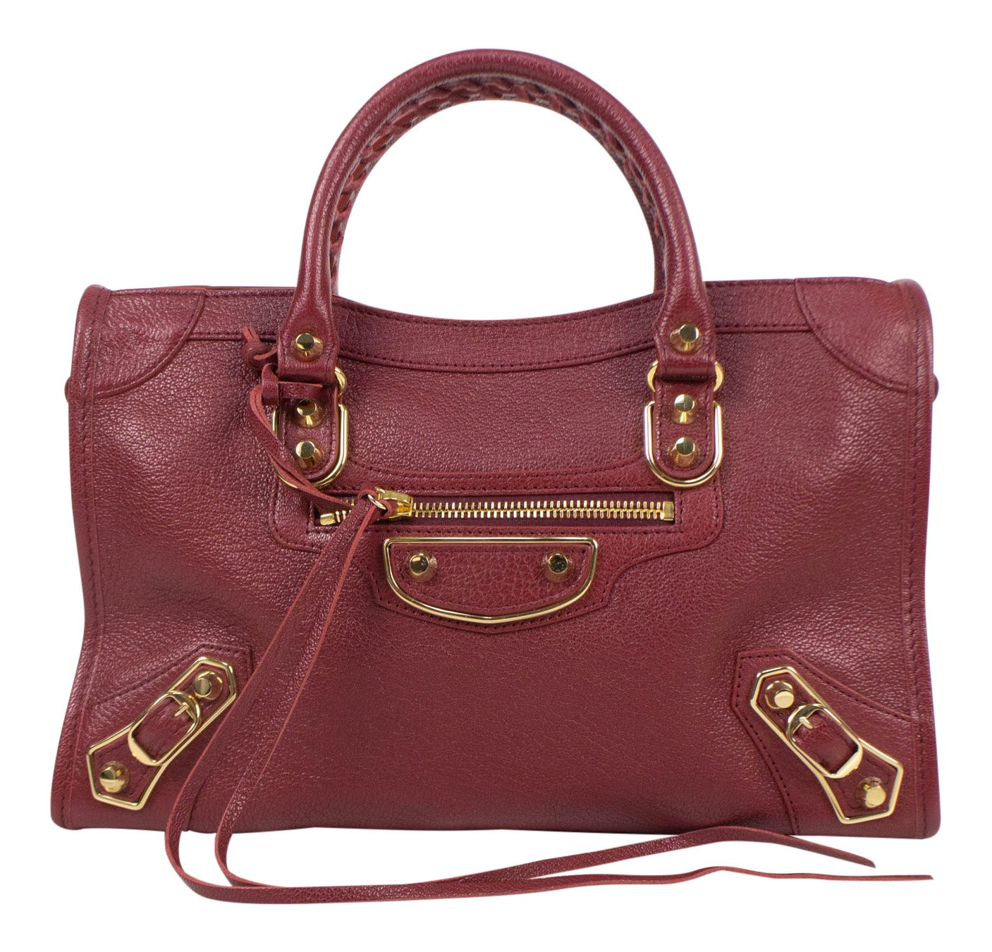 8be78074ea Amazon.com: Balenciaga Red Leather Metallic Edge City Small Shoulder Bag:  Baby
