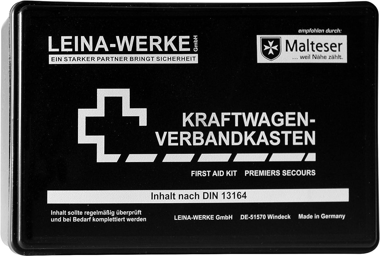 Leina Werke 10002 Kfz Verbandkasten Standard Schwarz Weiß Auto