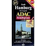 ADAC Stadtplan Stadt Hamburg 1 : 25 000. Spezialgefaltet: Mit Cityguide. Mit City- und Durchfahrtsplan. Mit Sonderkarten Flughafen und Messe. Mit Schnellbahnen im HVV und Postleitzahlen