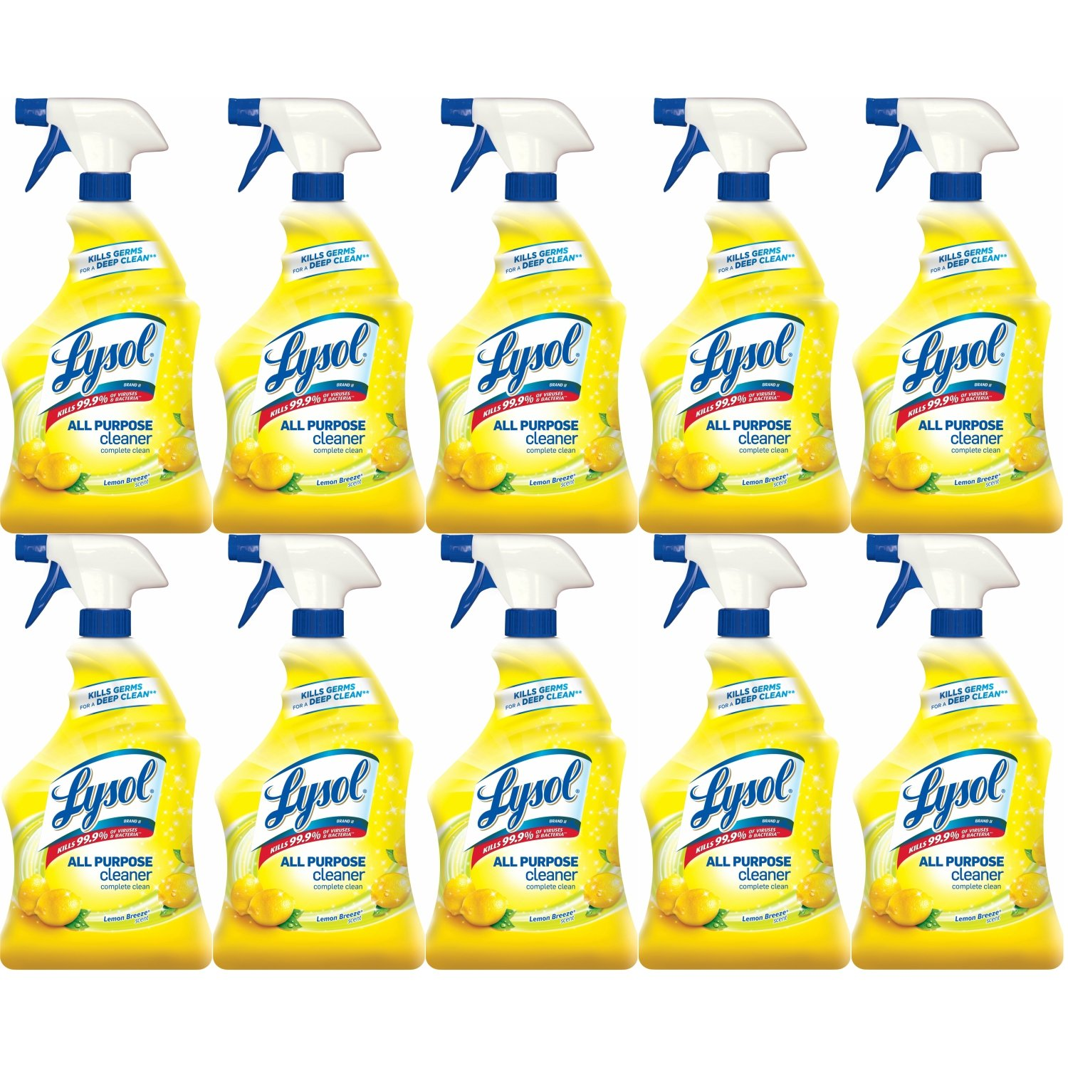 Lysol All Purpose Cleaner Spray, Lemon Breeze, 320oz (10X32oz)