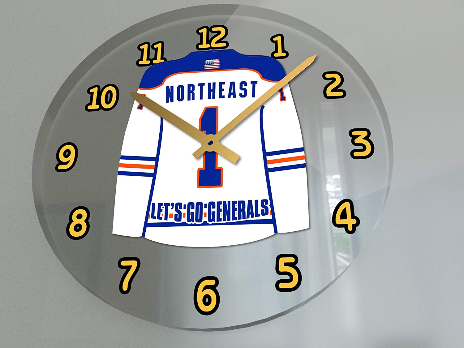 FanPlastic NAHL North American Hockey League Wall Clocks Support Your Team !!! All N A H L Team Colours Available