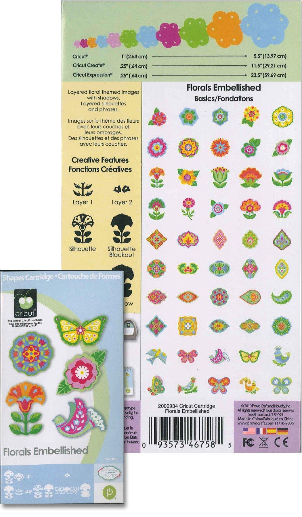 Cricut Florals Embellished Cartridge