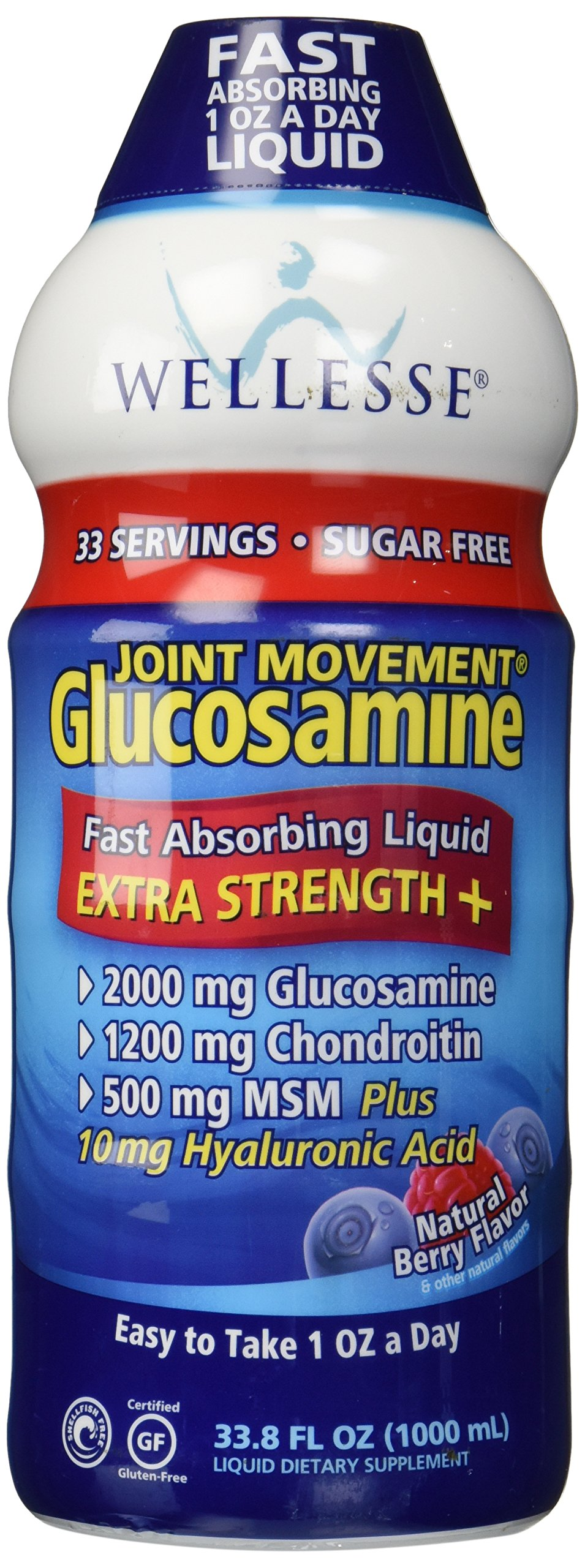 Wellesse Joint Movement Glucosamine With Chondroitin & Msm 33.8 fl oz (1000 ml)
