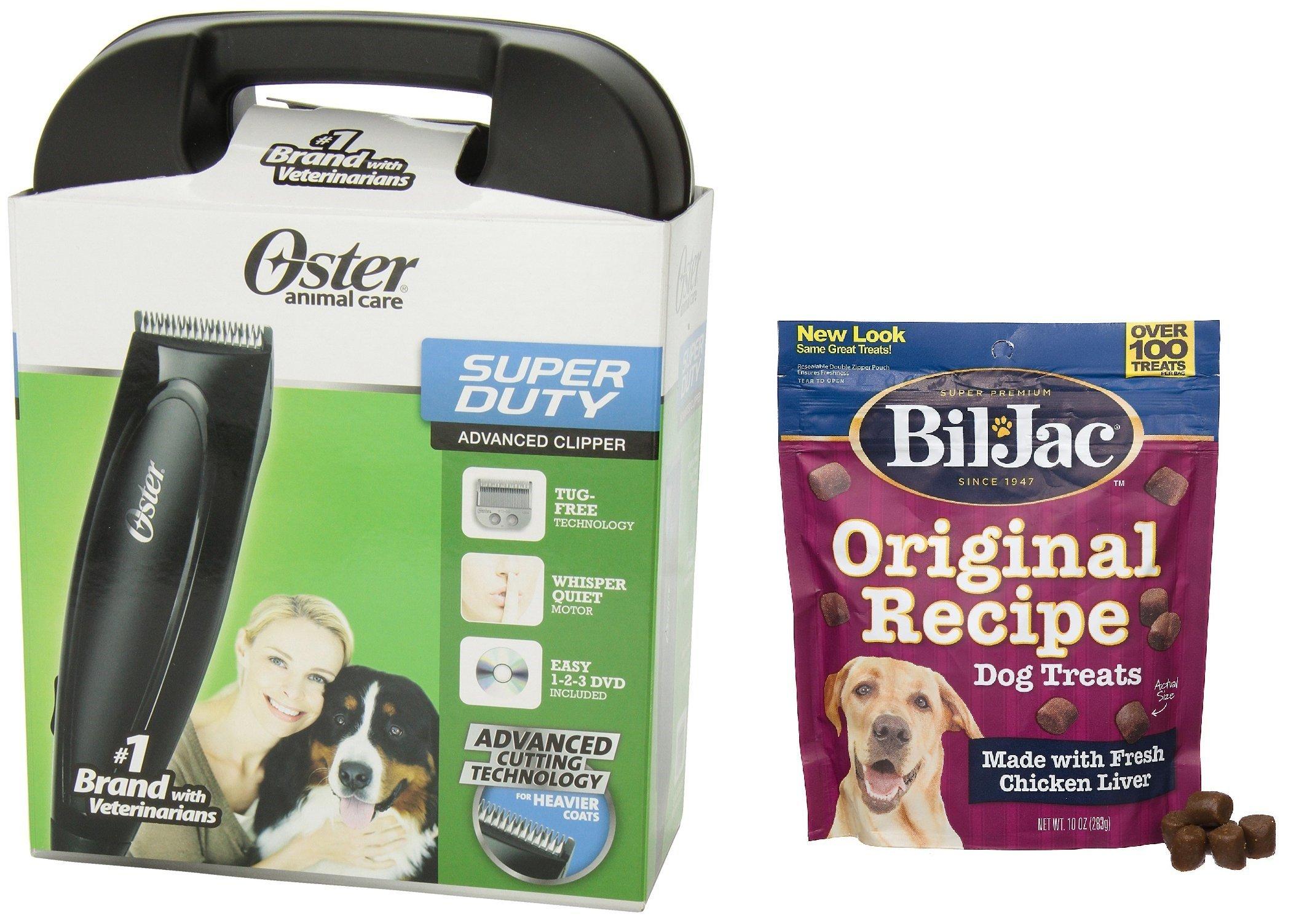 Oster Super Duty Clipper Kit - Includes Bil-Jac Original Recipe Dog Treats 10oz by Oster
