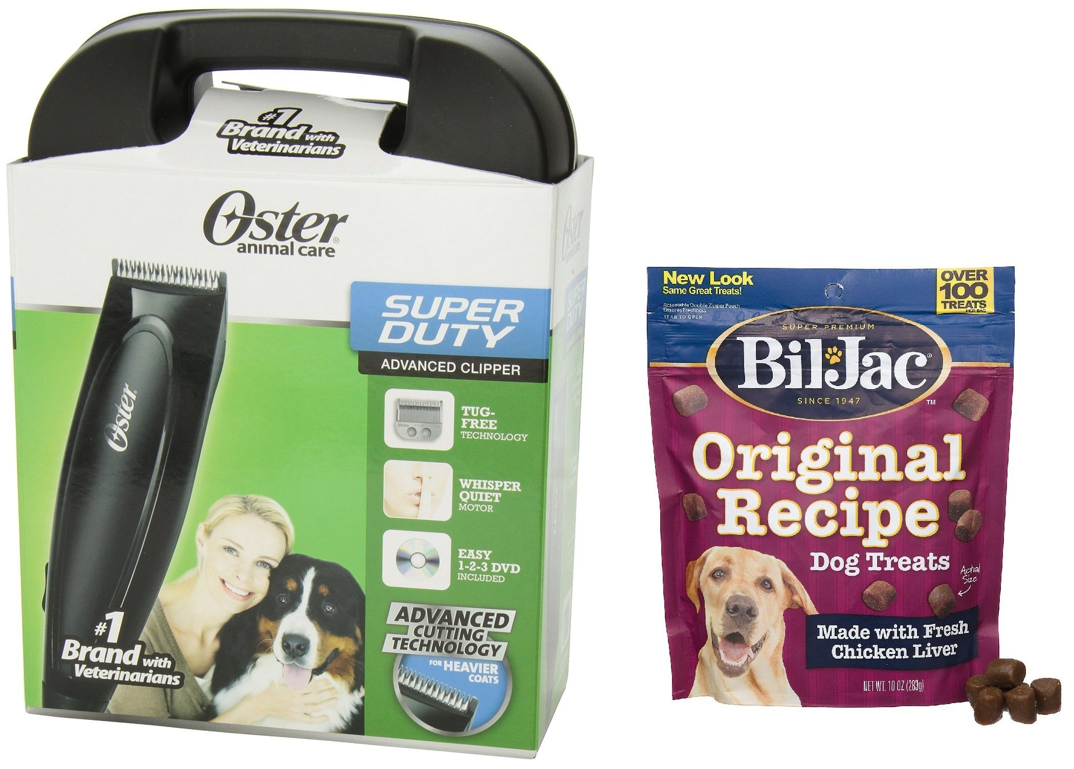 Oster Super Duty Clipper Kit - Includes Bil-Jac Original Recipe Dog Treats 10oz by Oster (Image #1)