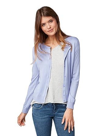 TOM TAILOR Damen Strickjacke Feminine Basic Cardigan  Amazon.de  Bekleidung 89926f538c46
