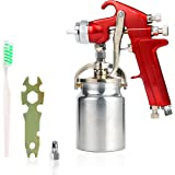 YaeTek Spray Gun with Cup 1 quart, Paint Sprayer with Red Handle, 1.8mm Nozzle