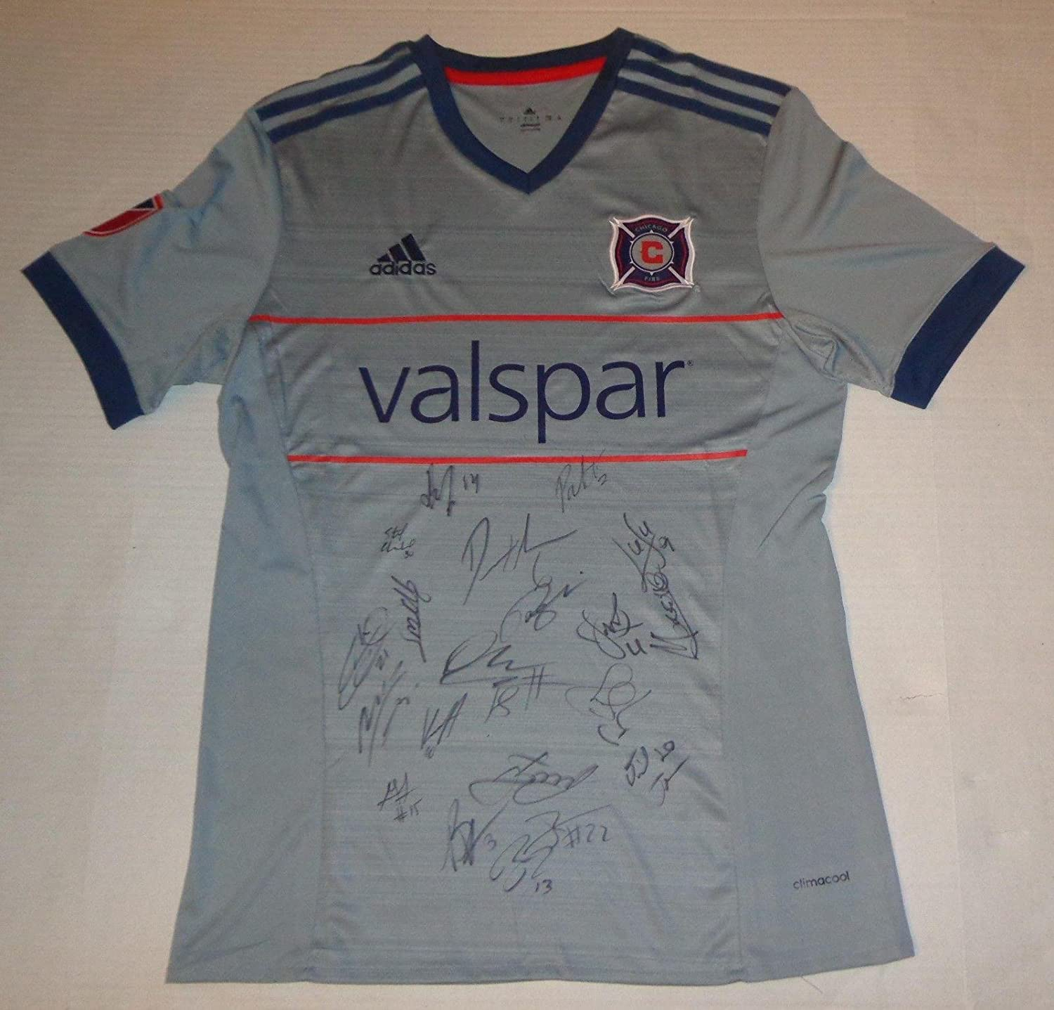 122ec48f531 Chicago Fire 2018 team signed jersey MLS Bastian Schweinsteiger autographed  - Autographed Soccer Jerseys at Amazon's Sports Collectibles Store