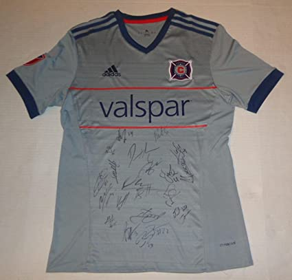 wholesale dealer c33f8 0aac9 Chicago Fire 2018 team signed jersey MLS Bastian ...