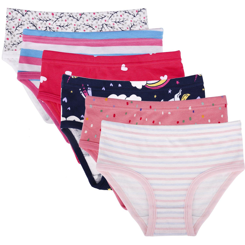 Seekay Toddler Girls' Brief Soft Cotton Underwear Brief 2-3 Years
