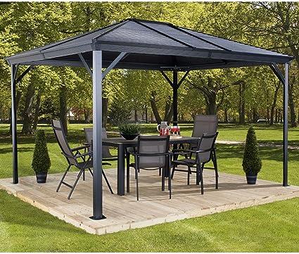 Aluminio Carpa Pabellón Gazebo Ventura 10 x 14//296 x 423 cm (BxH)//Cenador y Gazebo con Hard de Top techo de sojag: Amazon.es: Jardín