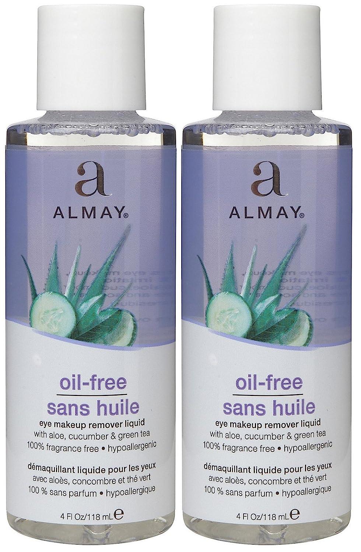 Almay Oil, Free Eye Makeup Remover Liquid - 4 oz - 2 pk
