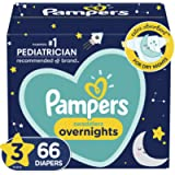 Diapers Size 3 - Pampers Swaddlers Overnights Disposable Baby Diapers, 66 Count, Super Pack