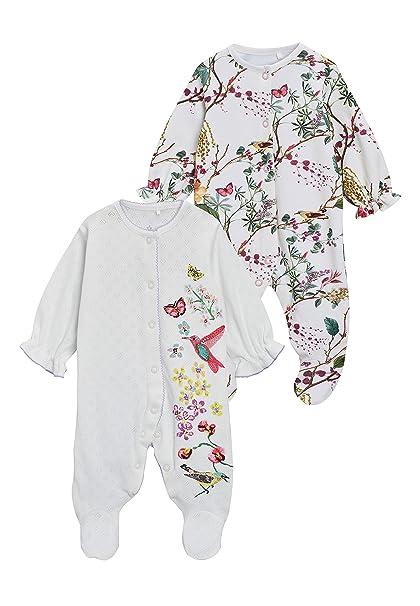 next Bebé-Niñas Pack De Dos Pijamas De Flores (0 Meses - 2 Años