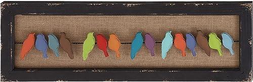 Benzara Attractive Multicolored Wood Metal Wall Decor