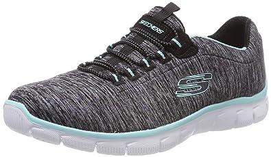 EMPIRE SEE YA Ladies Slip On Trainers BlackTurquoise