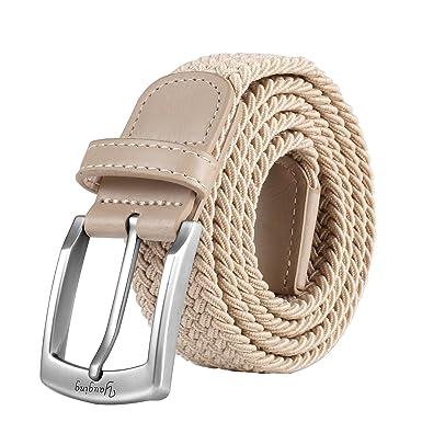 Ceintures pour hommes, ceinture élastique élastique avec boucle couverte,  pour jeans, ceintures pour 1cf1f2d1c25