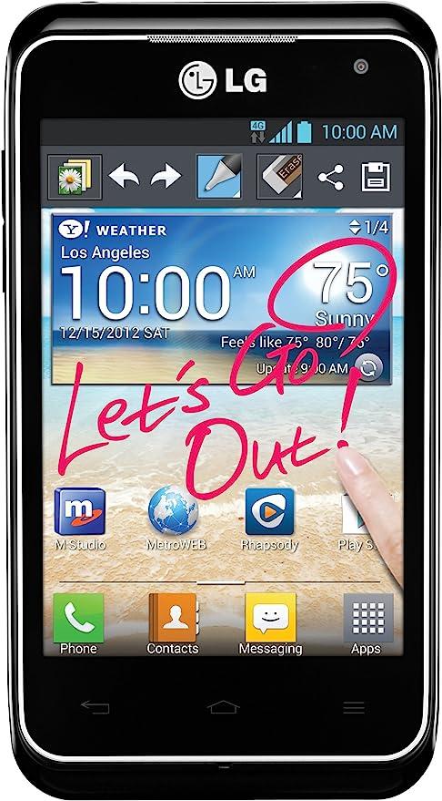 LG Motion 4G LTE Teléfono Android prepago (MetroPCS): Amazon.es ...