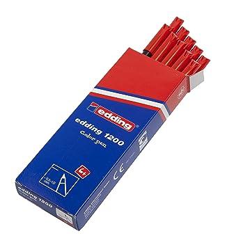 5 Stück Edding 1200 Fasermaler 0,5-1mm rot Rundspitze Colourpen NEU
