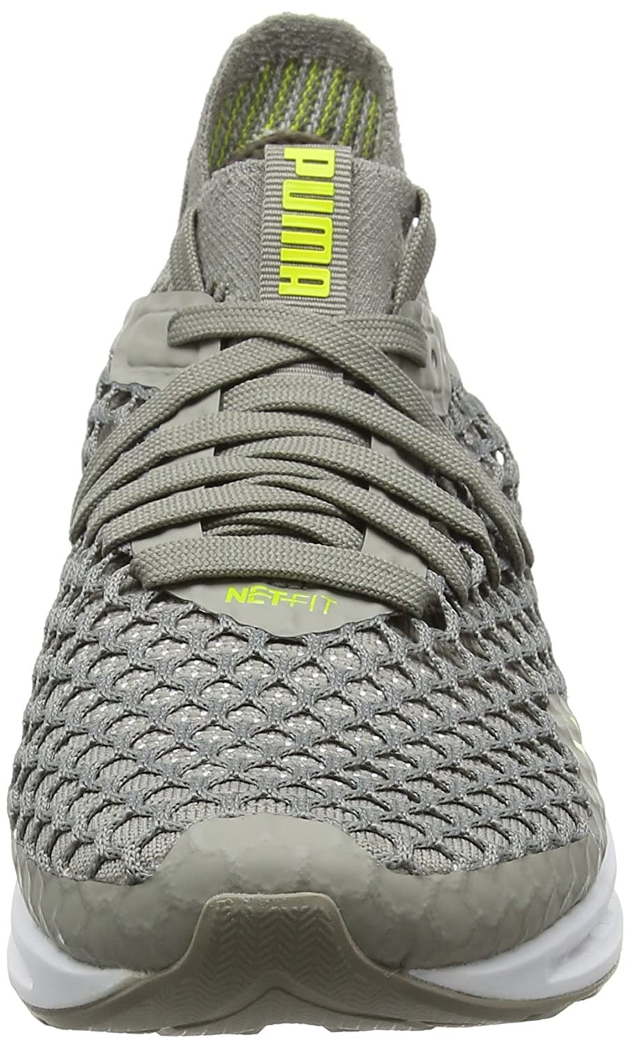 Puma Ignite Netfit Wn's, Chaussures de Cross Femme, Gris (Rock Ridge-Lemon Tonic), 37.5 EU