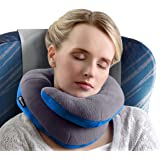 BCOZZY Chin Supporting Travel Pillow - Supports the Head, Neck and Chin in in Any Sitting Position. A Patented Product. Adult Size, GRAY