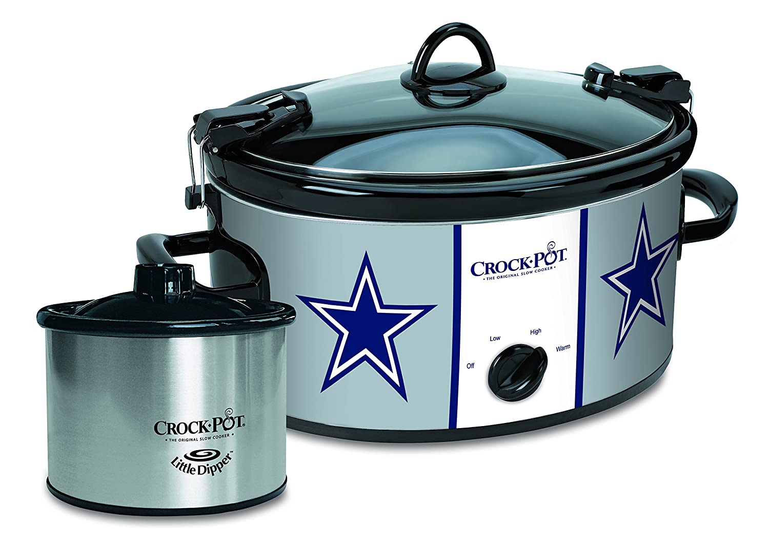 Crock-Pot Dallas Cowboys NFL Cook & Carry Slow Cooker with Bonus 16-ounce Little Dipper Food Warmer